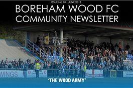 Boreham Wood FC Community News Letter