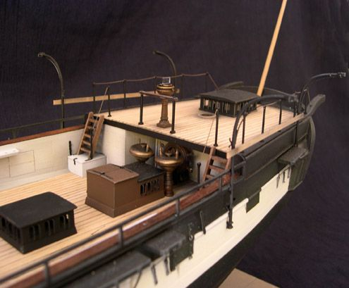 Stern view of the model