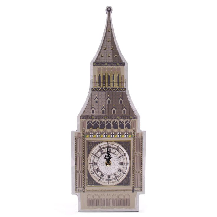 Fun Big Ben Shaped Decorative Wall Clock £12 + FREE P&P  Each clock is made from MDF and has a standard plastic clock movement that requires 1 AA battery. All are wall mountable and come in a decorative but simple display box making them ideal gifts.  Dimensions: Height 45cm Width 16cm Depth 2.5cm  #htlmp #readytopost #hikerneeds #clocks #bigben #london #gifts