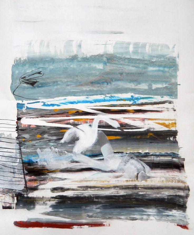 Giuseppe Gonella, Zeus Innamorato, 2013 Acryl auf Papier / Acrylic on paper 100 x 70 cm