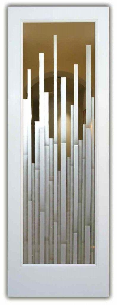 Glass Front Doors - Etched Glass Door - Mosaics 3D Glass Doors
