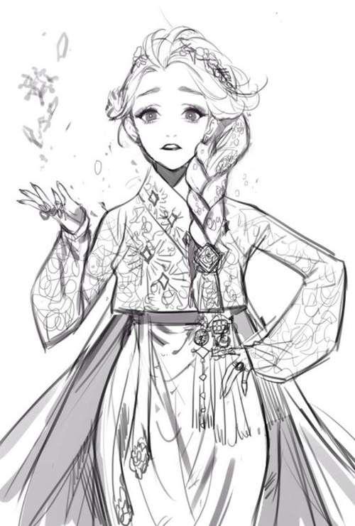 Disney Princesses and DreamWorks Heroes Dressed in Regal Hanboks | KoreAm Journal