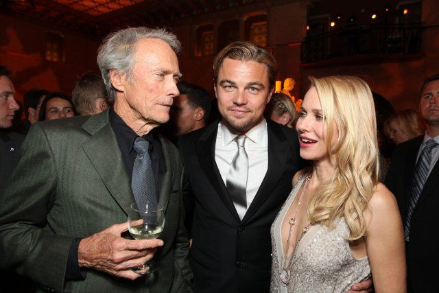 Leonardo DiCaprio, Clint Eastwood and Naomi Watts at event of J. Edgar (2011)