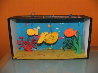 acquario con scatola cartone