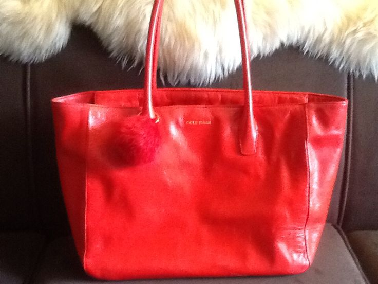 Cole Haan Fiery Red Isabella Leather Tote (Found at Ross in San Francisco for $99 -MSRP $248)
