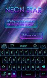 Neon Star Emoji Keyboard Theme