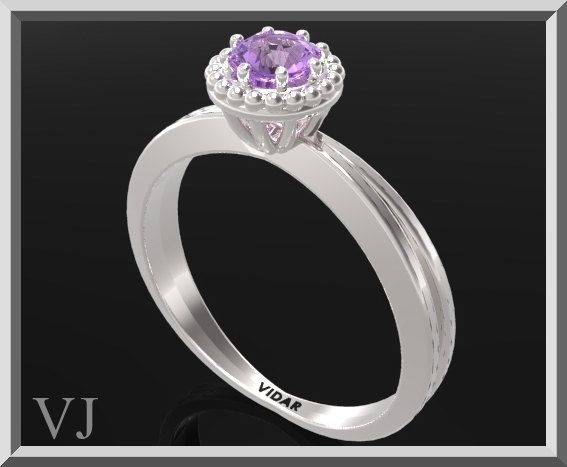 Amethyst Engagement Ring,Solitaire Engagement Ring,Unique Engagement Ring,Purple Amethyst,Silver Engagement Ring,925 Sterling Silver,Bridal