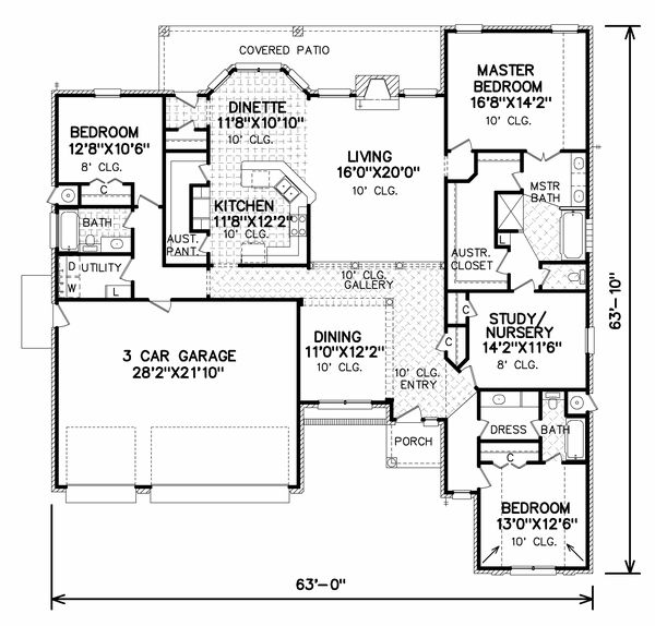 Floor Plan 7085 House Home Pinterest