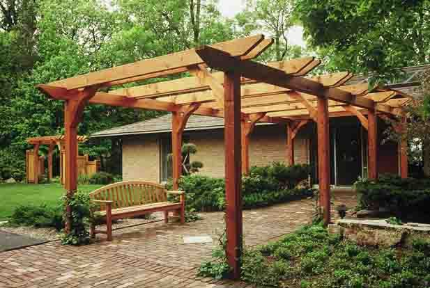 trellis and arbors for front entrance | Brick Entry Walk and Arbor