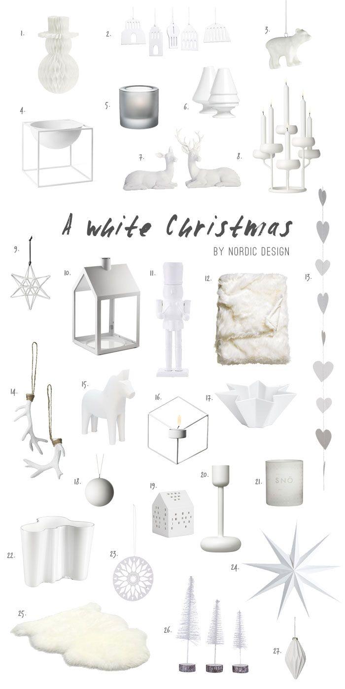 Top Picks For An All White Christmas Decor - NordicDesign