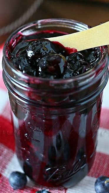 Blueberry Pie Filling Recipe - making this right now with berries we picked this morning!  My hubby will be so happy.