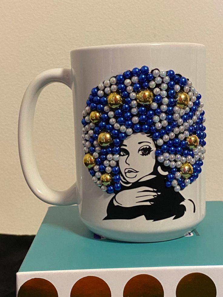 Blue beauty beautiful african american blue coffee mug
