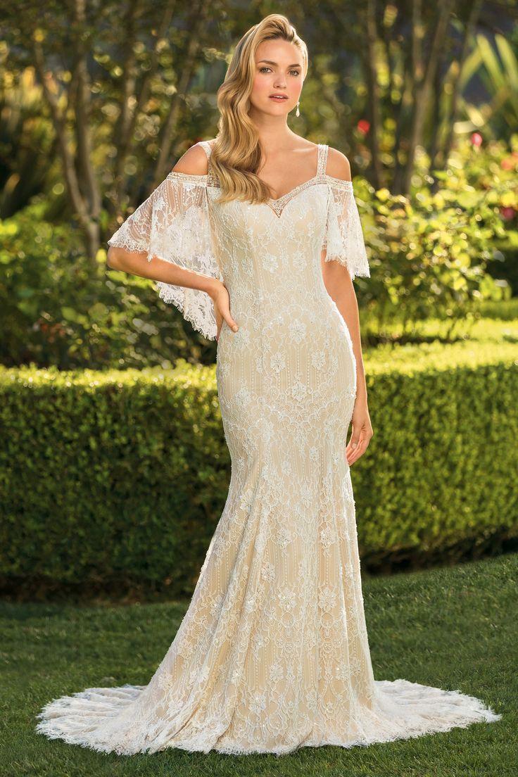 Casablanca Bridal 2342 Fit, flare wedding dress, Cold