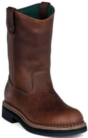 """Georgia Mens Work Boots """"Wellington Heritage Waterproof"""" if they were ariat and a lighter color they'd be perfect lol"""