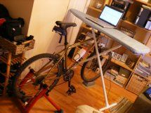Build your own bike desk for $4.99 | Obesity Panacea Ugly but probably effective and certainly cheap