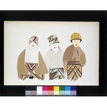 Portfolio of watercolour designs for textiles and costume by Sonia Delaunay, Paris, ca. 1925 l Victoria and Albert Museum