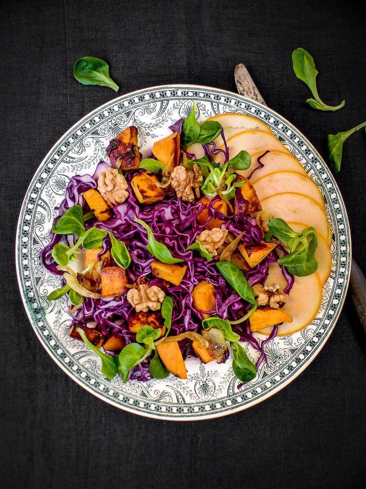 salade automne chou rouge et patate douce