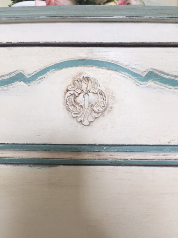 Gorgeous Antique Hand Painted Demilune Console Table Chest of Drawers ( Furniture ) in Oak Ridge, NC - OfferUp
