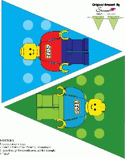 Lego Party Ideas - These lego bunting printables will look great hanging up at a lego themed party.