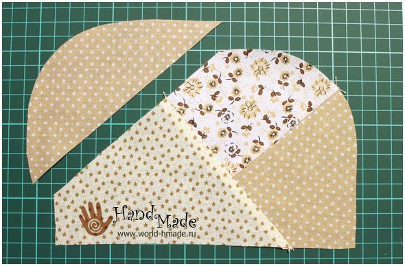 """How to sew a cosmetics bag  in the style of Japanese patchwork """" Sunbonnet Sue"""". DIY Photo Tutorial and Pattern."""