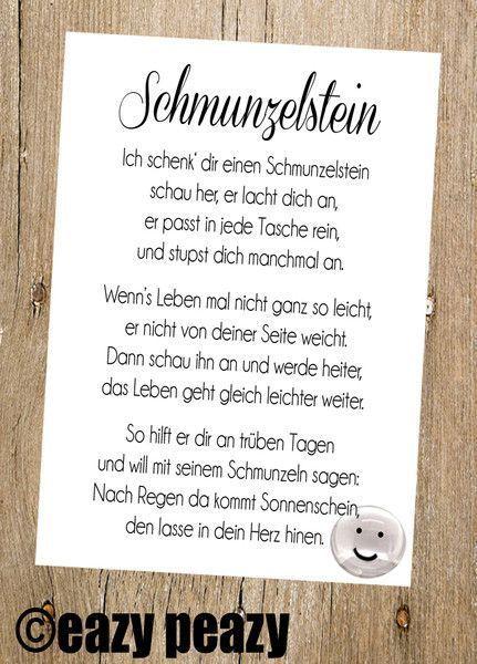 Glückssteine – ★ SCHMUNZELstein ★ Postkarte mit Glasnugget – ein Designerst…