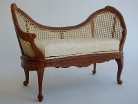 Dolls House Cane Sofa from The Wonham Collection. R0165.