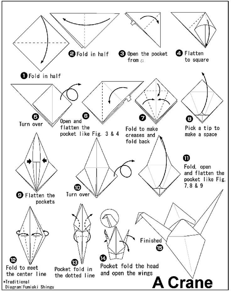 kayohh crane origami diagram instruction