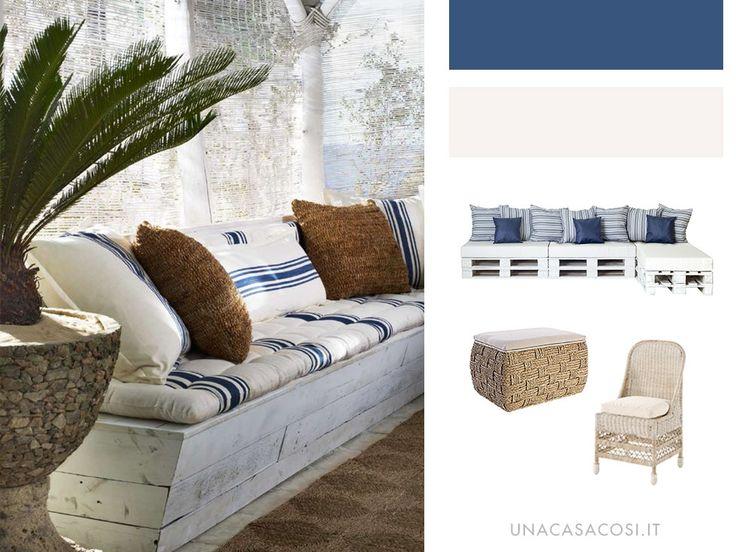 Arredare in stile Coastal: arredare con mobili da outdoor | Una Casa Così