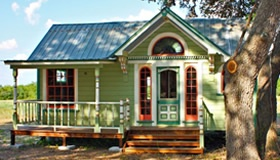 Tiny Texas Houses | Building the Future with the PastTinyhouse, Little House, Tiny Houses, Texas House, Tiny Texas, Cottages, Small House, Tiny Home, Painting Lady