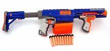 Nerf Machine Gun Raider CS-35 N-Strike Rifle Automatic Rapid Fire Clip 15 Darts