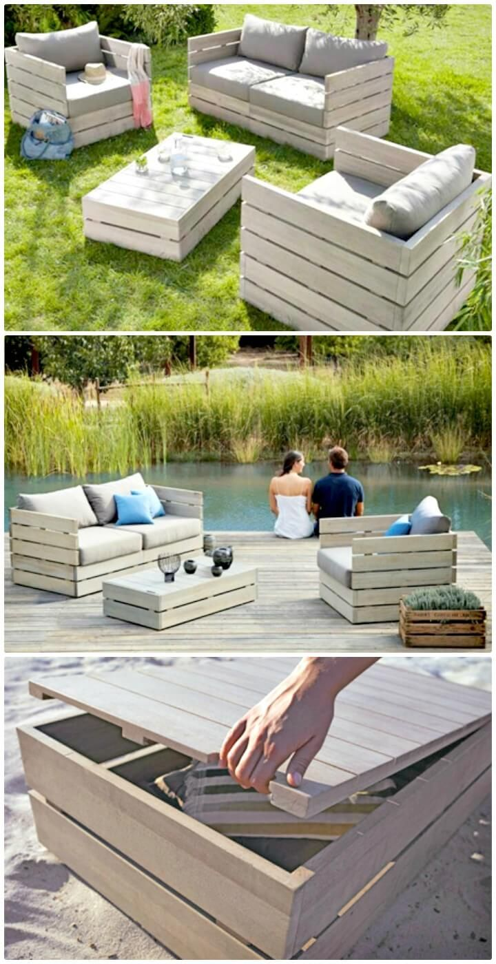 Pallet Furniture FOR Garden - 54 DIY Garden Furniture Ideas to Update Your Home Outdoor This Weekend