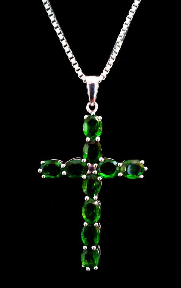 119 best cross necklaces and prayer beads images on pinterest vintage 925 sterling silver studded peridot large cross pendant necklace from the genuine gemstone company mozeypictures Image collections
