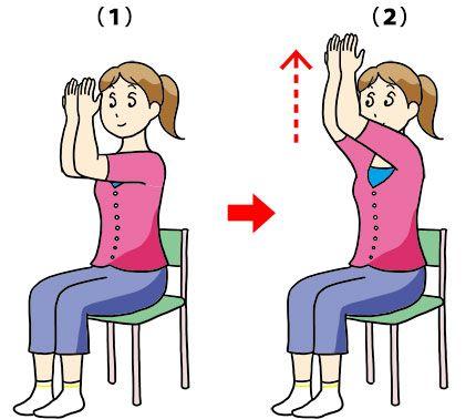 gooヘルスケア。仕事の合間に簡単ストレッチ16 胸・背中。広背筋をストレッチしつつ大胸筋を鍛えるバストアップ体操。背中に脂肪がつきにくくなり、腕もすっきり