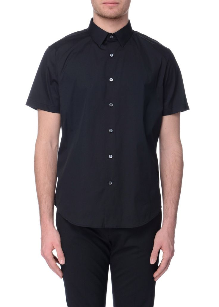 Theory - SS17 - Menswear // Black Sylvain shirt in stretch cotton