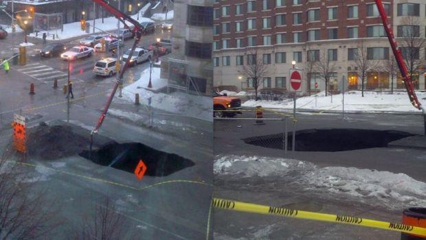Waller street sinkhole Feb-21-2014 Ottawa