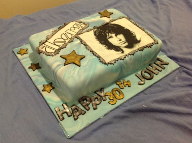 30th Birthday Cake with an edible image.