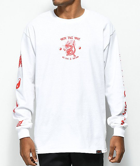 a782289c1b59 Open925 Wok This Way White Long Sleeve T-Shirt in 2019 ...