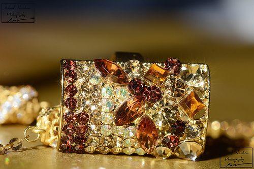Glitter gemstone invitation to magic
