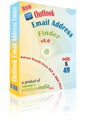Efficient outlook email extractor software extracts email address from outlook files and Provides you a list of unique Email Addresses.
