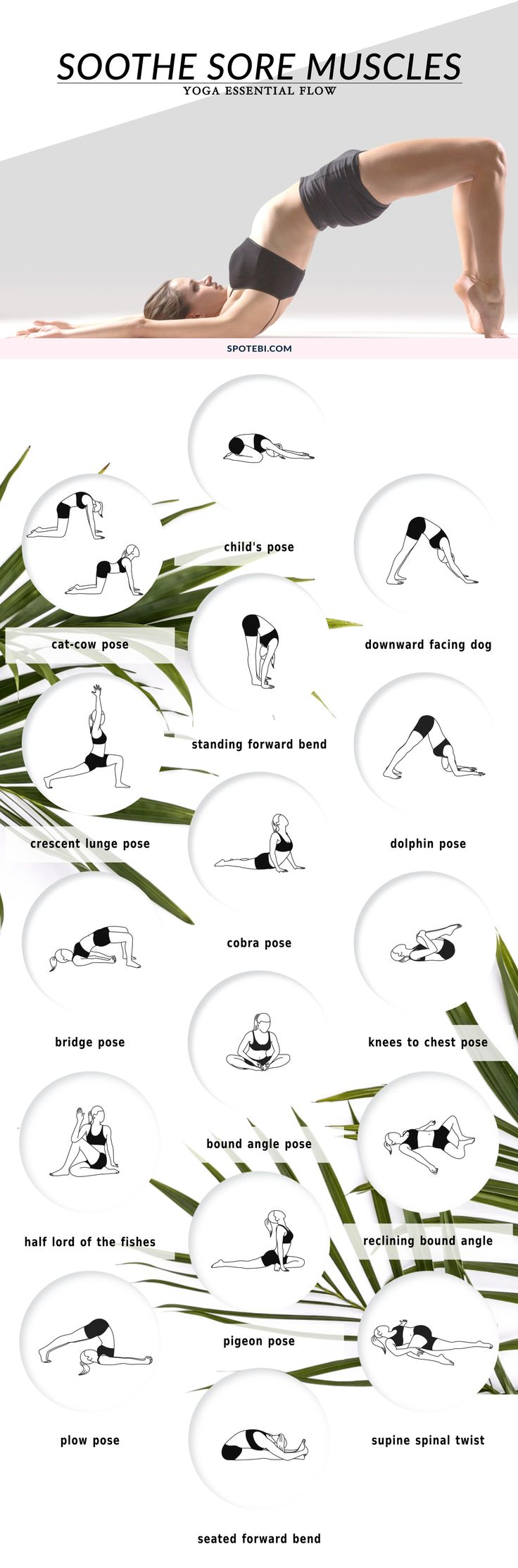 Here's a yoga routine to soothe sore muscles after a workout.
