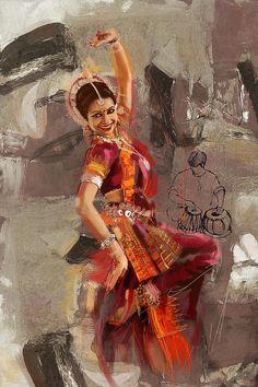 Kathak Dancer 7 Painting