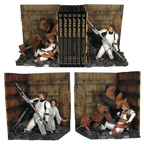 Trash compactor bookends! - OMG I must buy this for my brother!  We watched Star Wars every Sunday for years!!!!