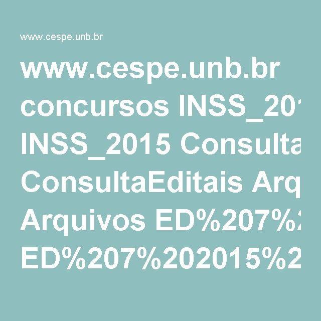 www.cespe.unb.br concursos INSS_2015 ConsultaEditais Arquivos ED%207%202015%20INSS%20-%20Resultado%20final%20da%20objetiva_RJ.pdf