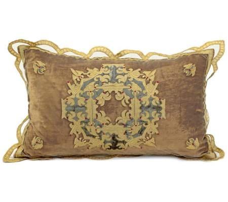 Antique Gold Decorative Pillows : Antique Gold Velvet 20