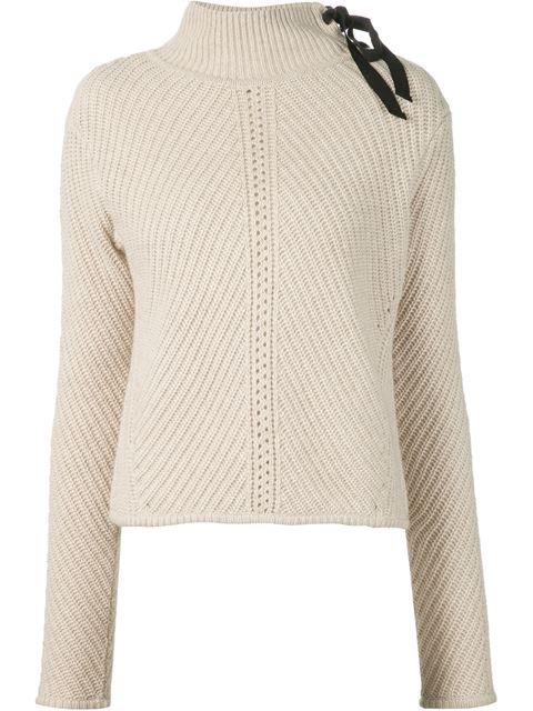 Veronica Beard Lace-up Sweater