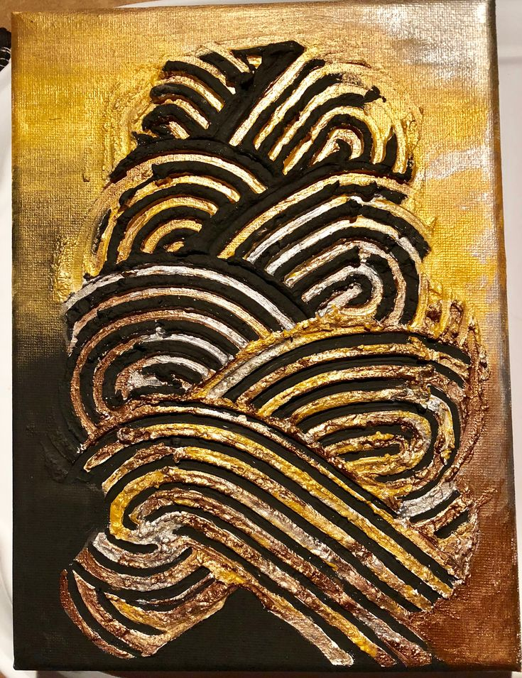 #3d#acrylic#gold#black#silver#abstract#art#