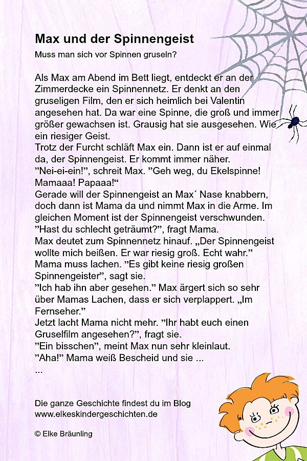 Max und der Spinnengeist * Elkes Kindergeschichten