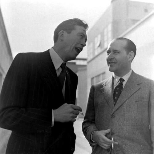 John Huston and Roberto Rossellini.
