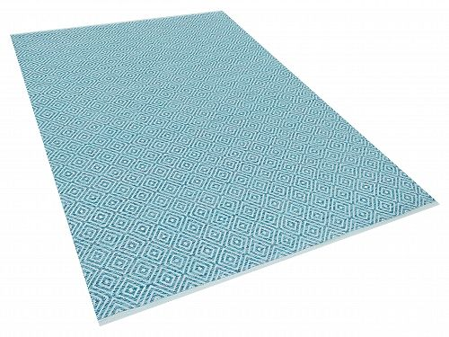 Tapijt blauw - vloerkleed - karpet - woonkamertapijt - 160x230 cm - katoen - AKSARAY_531756