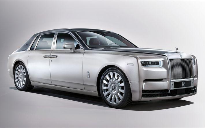 Descargar fondos de pantalla 4k, Rolls-Royce Phantom, coches de lujo, 2017 autos, estudio, Rolls-Royce